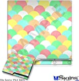 Sony PS3 Slim Decal Style Skin - Brushed Cirlces Multi Light