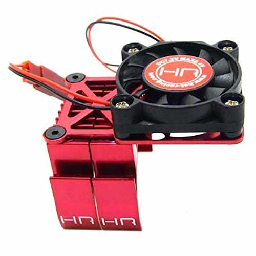HOT-RACING MH550TE02 Red Multi Mount Fan Cool Heat Sink 36mm (Fan Cool Motor Heatsink)
