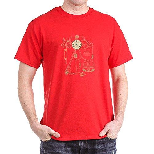 CafePress Steampunk Contraption Dark T-Shirt - L Red