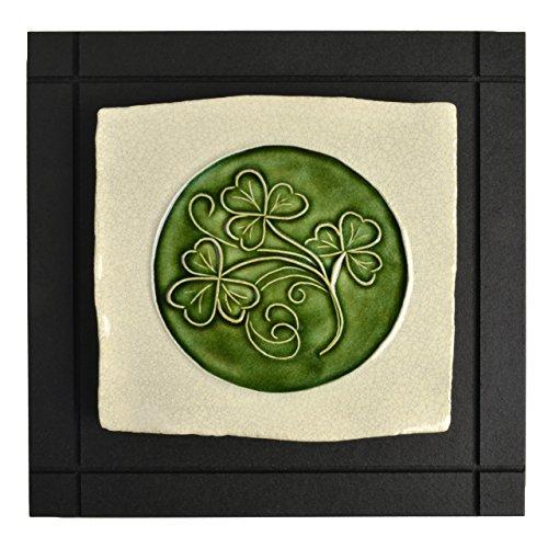 Wild Rose Pottery CP7 Shamrock Celtic Art Tile