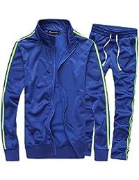 cdb1fb551c0 Men s Athletic Full Zip Running Tracksuit Sports Set Casual Sweat Suit