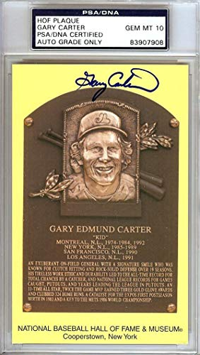 Gary Carter Autographed HOF Postcard Mets, Expos Gem Mint 10 Stock #106518 PSA/DNA Certified MLB Cut Signatures