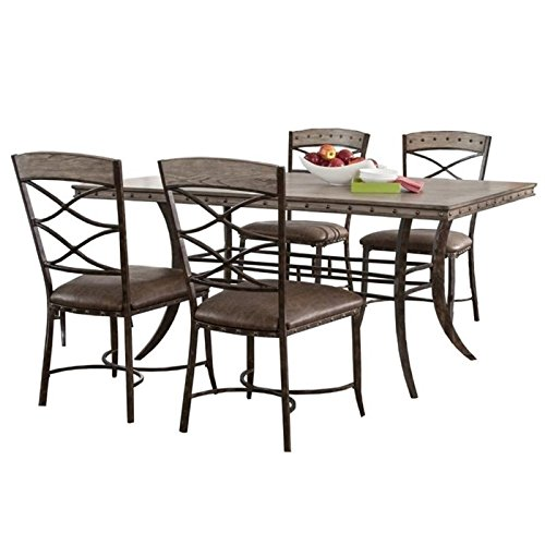 Bowery Hill 5 Piece Dining Set in Washed Gray