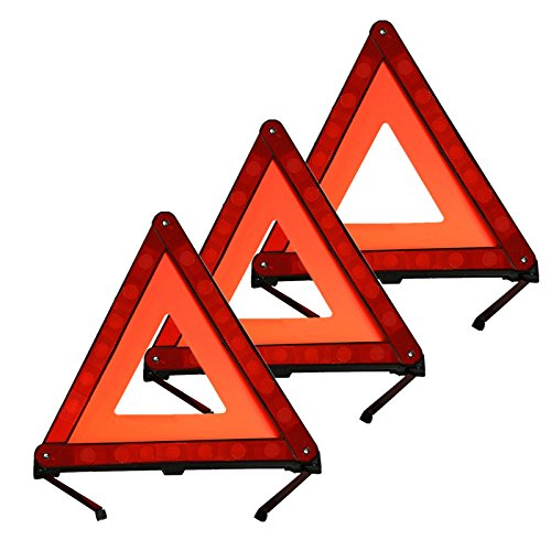 Reflective Warning Triangle Emergency Warning Triangle Safety Triangle (Set of 3)