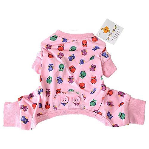 (Fashion Pet Lookin' Good! Owl Print Pajama's, X-Small, Pink)
