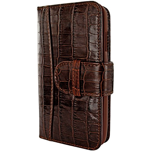 Piel Frama Wallet Case for Apple iPhone 6 Plus - Crocodile Brown by Piel Frama