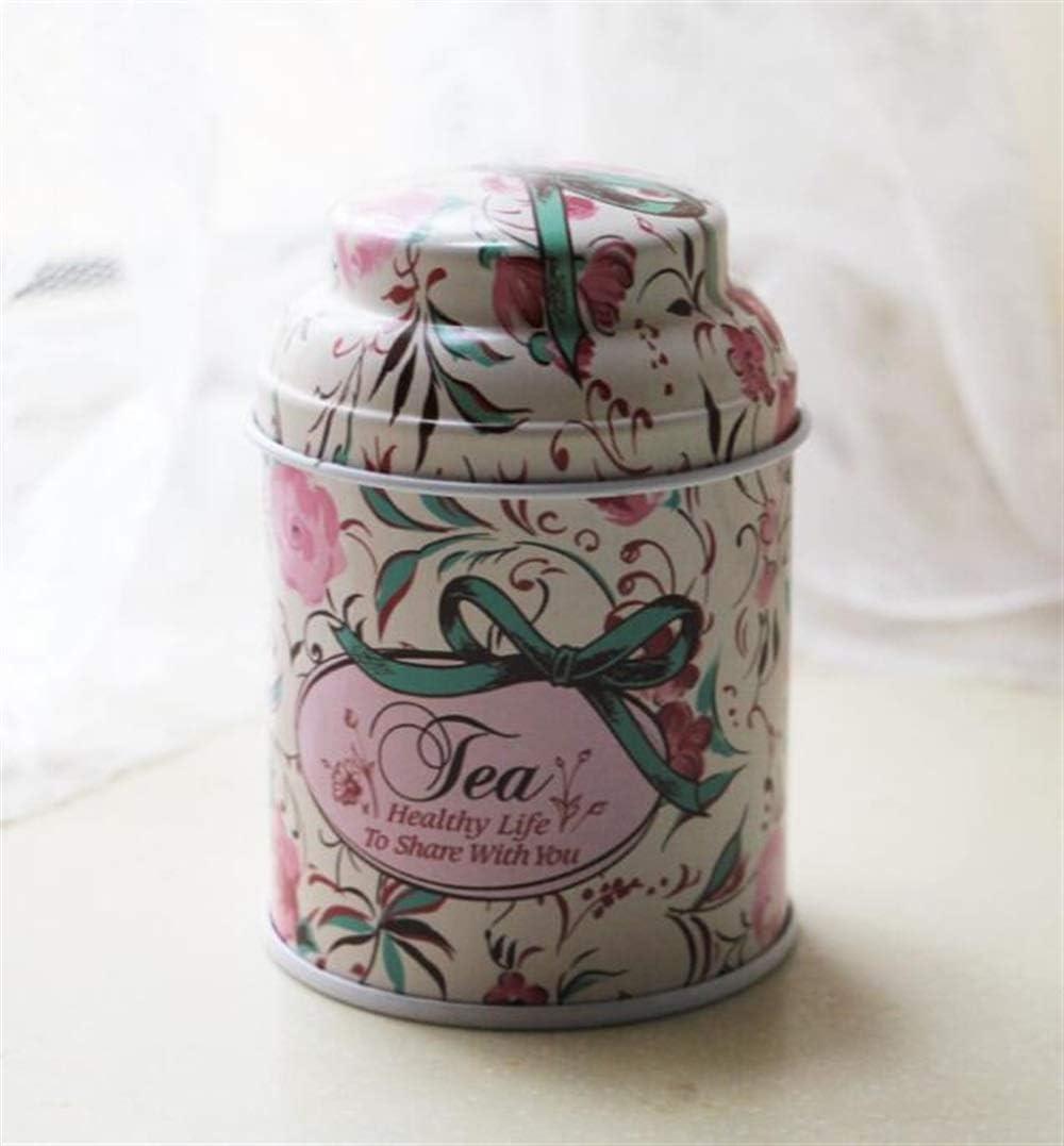 MON5F Home Caja Grande de hojalata del té del Regalo de Las latas del té del envase Grande del Metal (púrpura): Amazon.es: Hogar