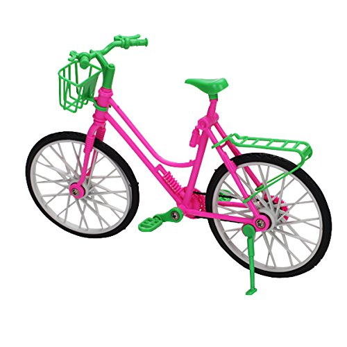8pcs Bicicleta Bici Desmontable Plástico Accesorio para Muñecas Barbie Multicolor MagiDeal