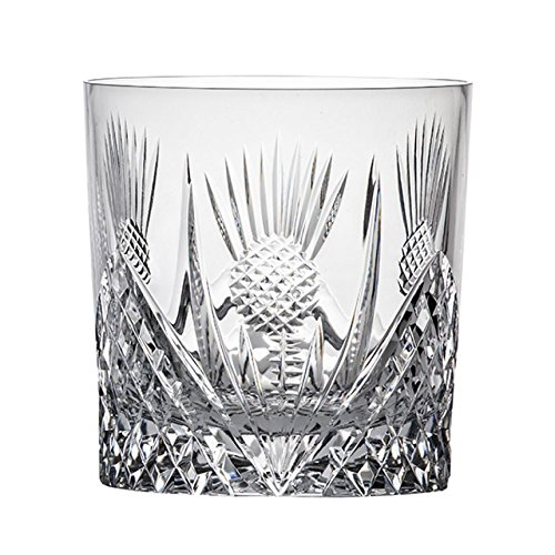 Crystal Thistle - Royal Scot Crystal Scottish Thistle Large Crystal Whisky 9oz Tumbler