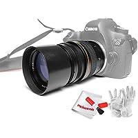 Kelda 135mm F2.8 Telephoto Lens for Canon Cameras, Full Frame, Manual Focus, Prime Fixed Lens