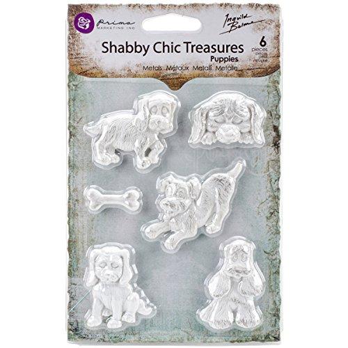 (Prima Marketing RE8-92609 Shabby Chic Treasures Resin-Puppies)