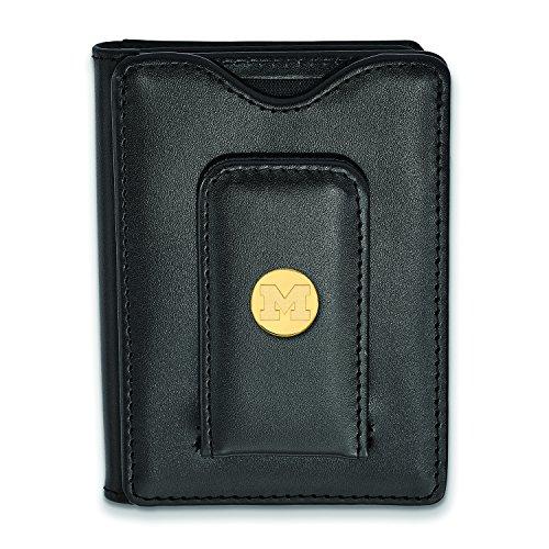 Black Wallet Wallet Black Gold Michigan Michigan Michigan Plated Black Plated Leather Gold Leather Gold Leather Wallet 5qn4xzFA