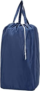 NISHEL Laundry Bag with Handles, Machine Washable Large Dirty Clothes Bag with Drawstring Closure for Camp College Dorm, Blue
