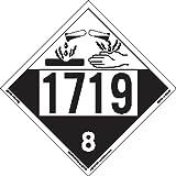 Labelmaster ZT4-1719 UN 1719 Corrosive Hazmat Placard, Tagboard (Pack of 25)