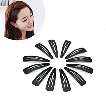 Amazon Com Symphony Snap Hair Clips 50 Pack Black Snap
