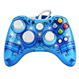 xbox 360 blue ring of light - J&T Wired USB Joypad Xbox 360 Controller Transparent Gamepad with Shining LED Light