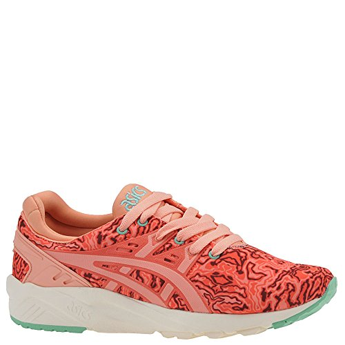 ASICS Women's Gel-Kayano Trainer Evo Fashion Sneaker, Hot Coral/Peach Melba, 7.5 M US
