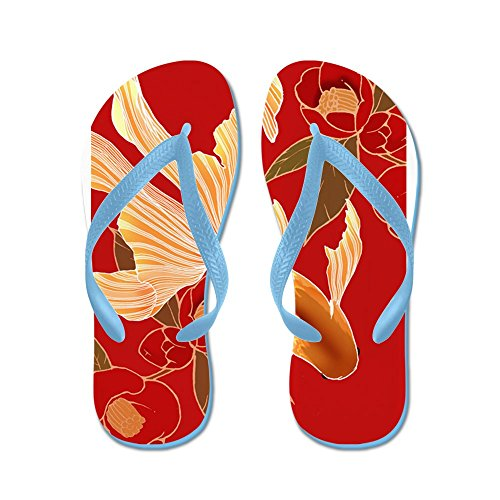 Flip Funny Sandals Goldfish Kimono Thong Tradisional Cafepress Blue Caribbean Flops Design Beach Sandals xnZfwa