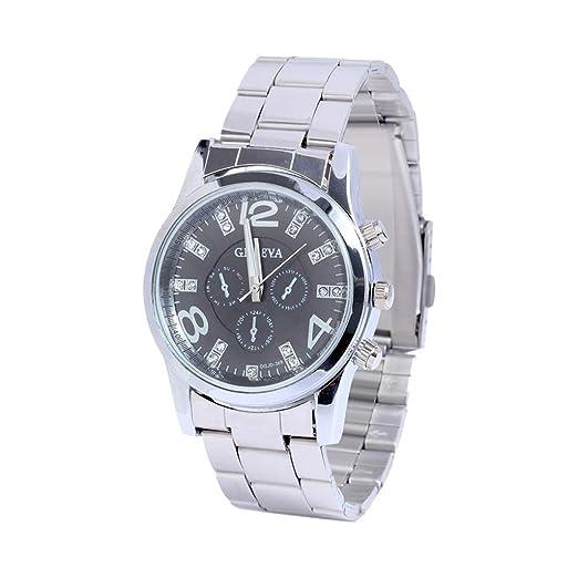 Amazon.com: Emubody Wrist Watch, Multicolor Calendar Business Diamond Studded Three Eyes Set Quartz Watch Reloj de Mujer: Watches