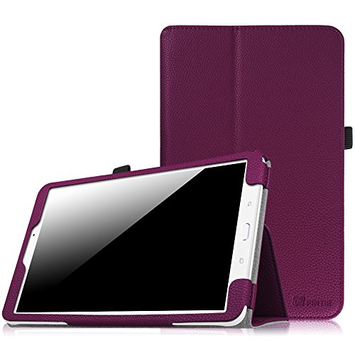 Fintie Folio Case for Samsung Galaxy Tab E 9.6 - Slim Fit Premium Vegan Leather Cover for Tab E/Tab E Nook 9.6-Inch Tablet (SM-T560/T561/T565 & SM-T567V Verizon 4G LTE Version), Purple