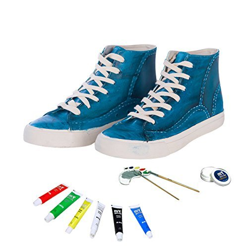 mY DESIGN Fashionable Painting Sneakers Shoes for Girls. Waterproof Yet Erasable DIY Acrylic Paint Craft Kit for Toddler/Kids/Teens. Casual & Comfortable Shoes - 13 M US Women by mY DESIGN