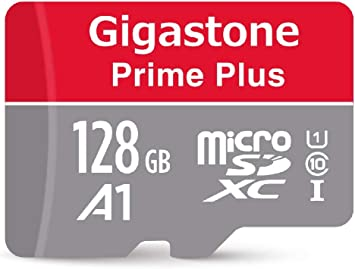 Gigastone 128GB Micro SD Card with Adapter, A1 V10 Run App for Smartphone, High speed Full HD available, Micro SDXC UHS-I U1 C10 Class 10 Memory Card