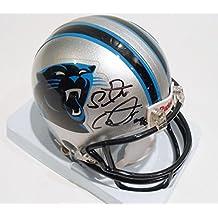 Star Lotulelei Signed Carolina Panthers Mini Replica Football Helmet w/COA - Autographed NFL Mini Helmets