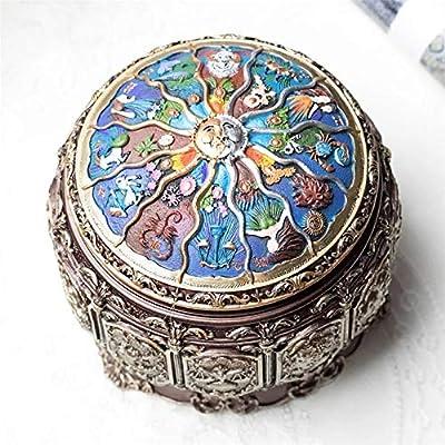 LIUXING Caja Musical para Regalo Vintage del Zodiaco Luminoso Caja de música con el Día de Las Luces LED de San Valentín cumpleaños Constelación Regalo (Color : One Color, tamaño : Un