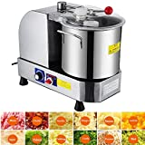 Happybuy Food Cutter Mixer Food Grinder Processor 850/2000 RPM Food Grinder Commercial for Meat Vegetables and Fruit (Bowl Capacity 6L)