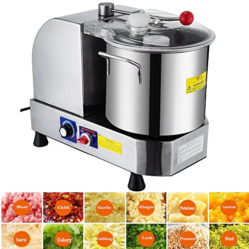 Price comparison product image Happybuy Food Cutter Mixer Food Grinder Processor 850 / 2000 RPM Food Grinder Commercial for Meat Vegetables and Fruit (Bowl Capacity 6L)