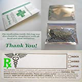 marijuana packaging - Dispensary Starter Pack, 100 Each: Strain Labels, Pharmacy Bags, Ziplock Mylar Bags (Medical Cannabis, Compliant For All States, Marijuana Product Packaging)