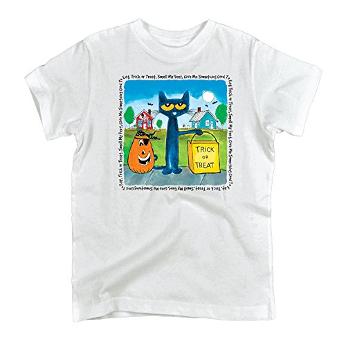 Pete the Cat Trick or Treat-Toddler Short Sleeve TEE-3T White -