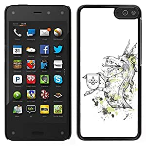 // PHONE CASE GIFT // Duro Estuche protector PC Cáscara Plástico Carcasa Funda Hard Protective Case for Amazon Fire Phone / Cool Funny Majestic Dragon Creature /