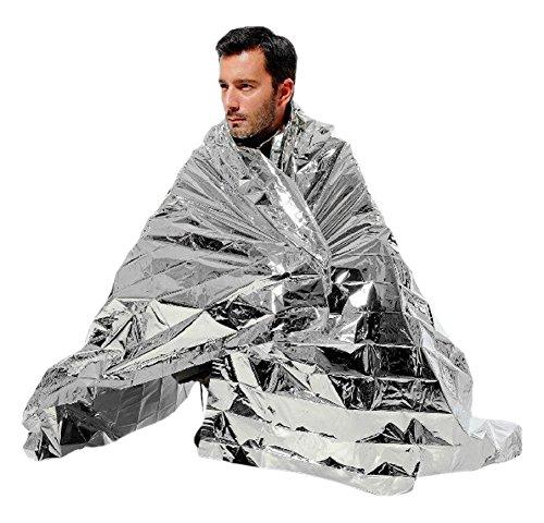 Swisstek 100 Piece STK Emergency Mylar Space Blankets, NASA Grade Mylar, Individually Wrapped, Large STK100