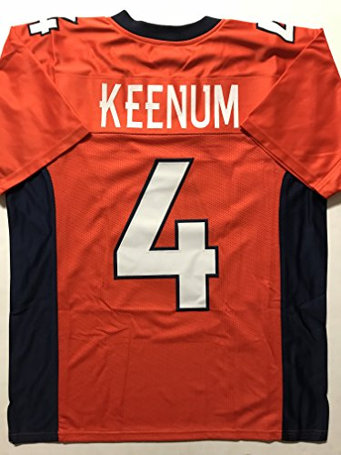 Case Keenum Denver Custom Football Jersey Size Men's XL