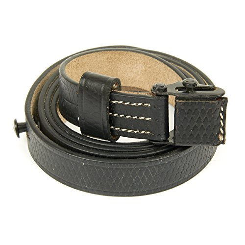 German WWII MP 40 SMG Black Leather Sling- MP40, MP-40, MP 38