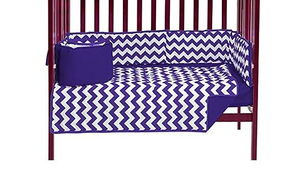 Baby Doll Bedding Chevron Mini Crib//Port-a-Crib Bedding Set Blue