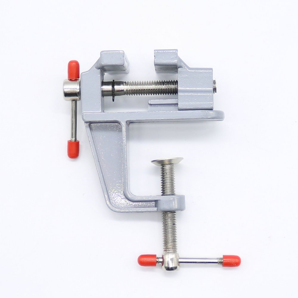 Tomeco Hot Sale 35mm Aluminum MiniAture Small Jewelers Hobby Clamp On Table Bench Vise Tool Vice
