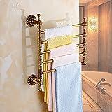 HYP-All-ceramic antique towel racks can be rotated bathroom bathroom towel hook European style towel bar four five six