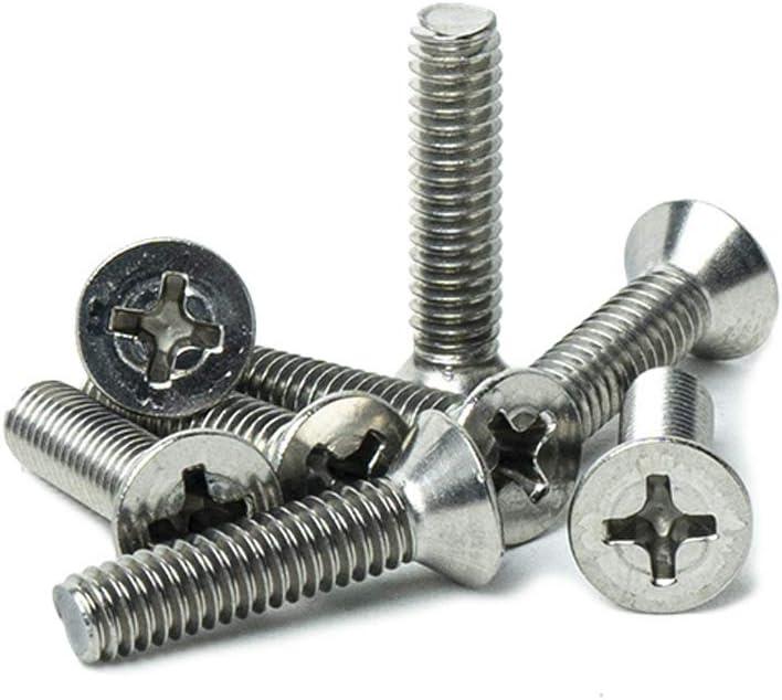 Phillips Drive Full Thread Machine Thread Quantity 50 by Bridge Fasteners Stainless Steel 18-8 Bright Finish #8-32 x 2-1//2 Flat Head Machine Screws