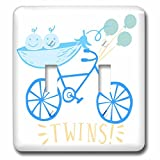 3dRose RinaPiro - Kids - Twins. Boys. Announcement. Cute picture. - Light Switch Covers - double toggle switch (lsp_261342_2)