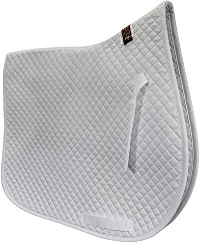 (ECP Cotton Quilted All Purpose Saddle Pad - White)