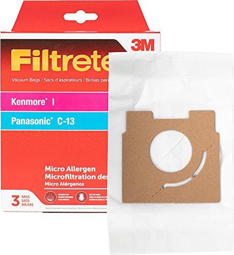 3M Filtrete Kenmore I/Panasonic C-13 Micro Allergen Pkg Vacuum Bag