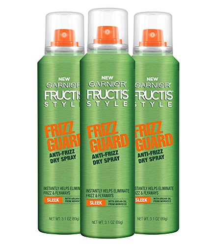 Garnier Hair Care Fructis Style Frizz Guard Anti-Frizz Dry Spray, 3.1 Ounce (Pack of 3)