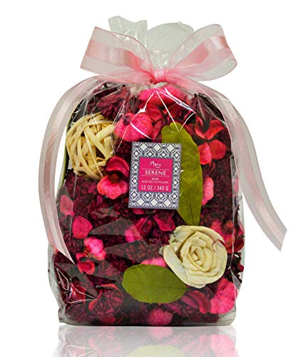 Manu Home White Rose Potpourri Bag ~ Fill The air in Your Space with Our Fresh Rose Scent~ Large Beautiful Rose Potpourri ~ Over 12oz~