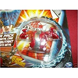 Bakugan Battle Brawlers Booster Pack Pyrus Red Two Headed HYDRANOID Evolved Chrome