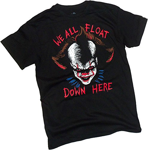 hen King's IT Movie, Down Here, Adult T-Shirt, Medium (Float New Line)