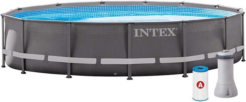 Intex 26310NP Piscina desmontable, con depuradora, 12.706 litros, 427 x 107 cm: Amazon.es: Jardín