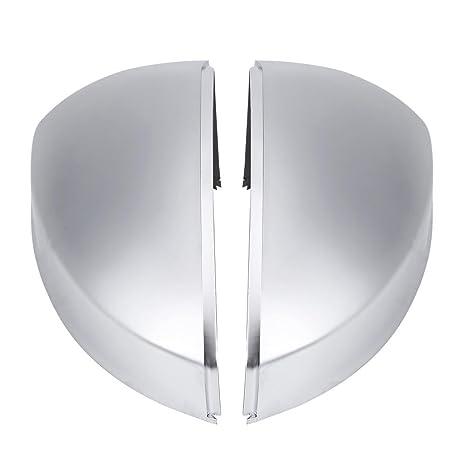 Acouto Par de Cromo Mate ABS Cubierta de la Carcasa del Espejo Retrovisor Tapa de Protección