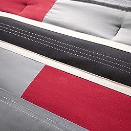 Mi-Zone Pipeline Comforter Set, Full/ Queen, Red